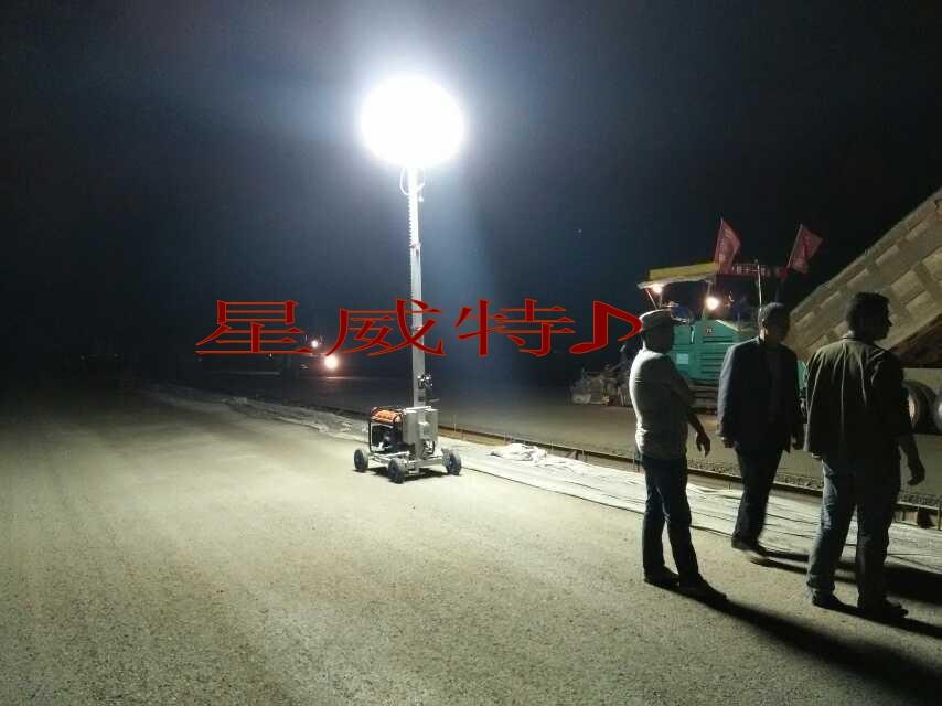 月球灯在广东河yuan施工现chang
